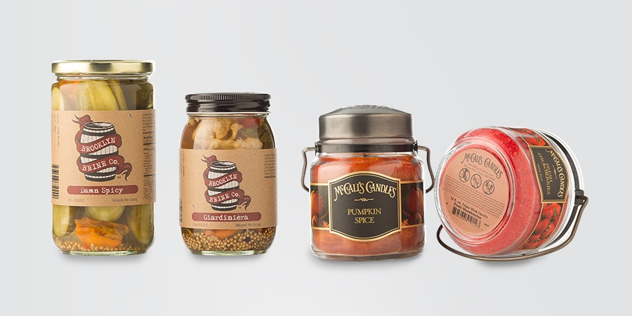 Labeling Glass Jars With a Wrap Around Machine